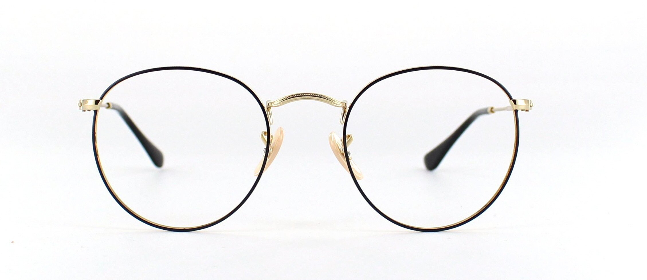 Ray Ban round metal front
